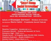 "locandina conferenza ""Smart Home Social Innovation"