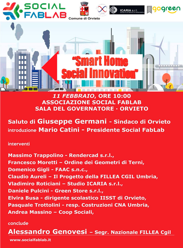 "locandina conferenza ""Smart Home Social Innovation"